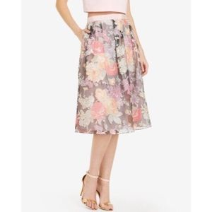 NEW Ted Baker Colorful Burnout Midi Skirt